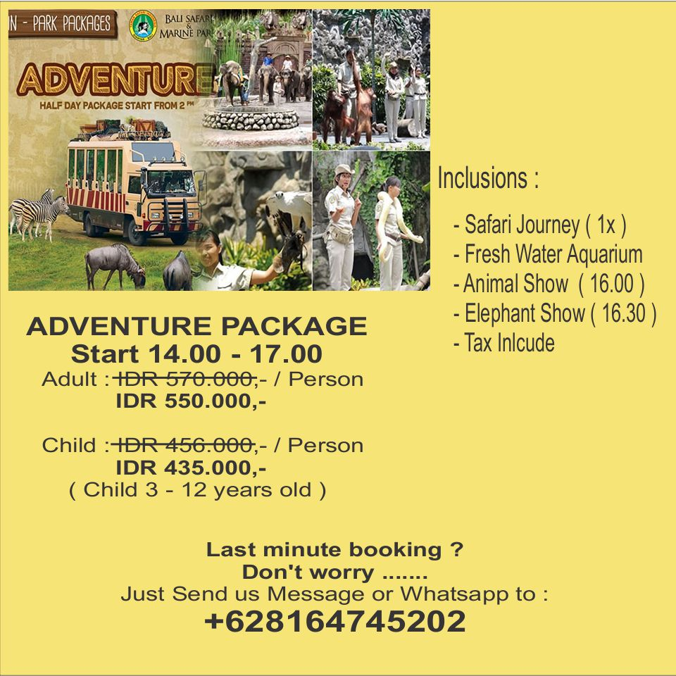 Bali Activity Discount Safari And Marine Park Tickets Ticket Night Package